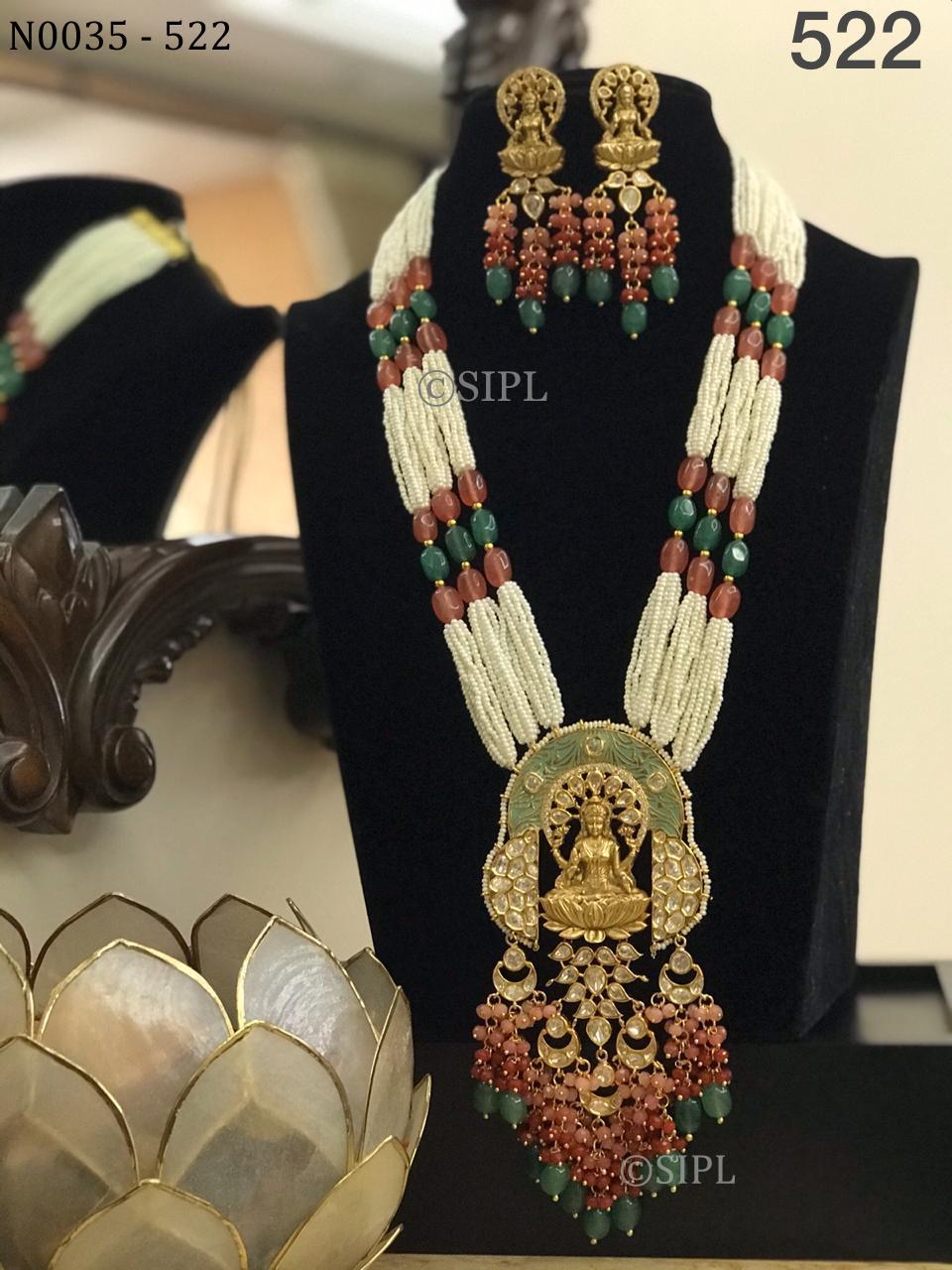 Beautiful Uncut Stone Temple Jewellery