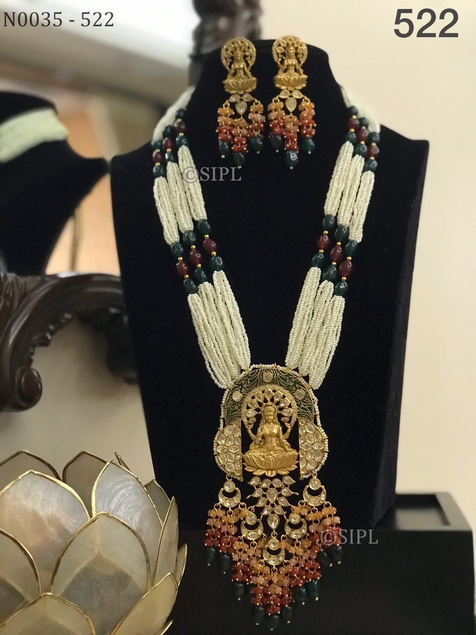 Beautiful Uncut Stone Temple Jewellery