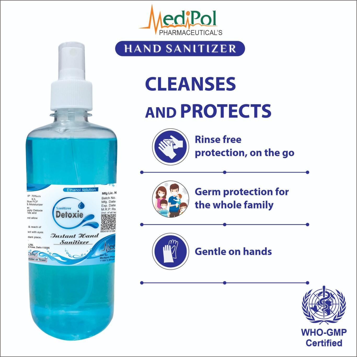 500 ML Detoxie Instant Liquid Hand Sanitizer