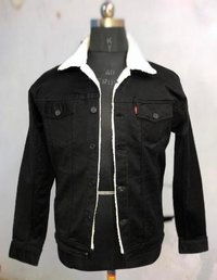 Mens Black Jeans Jacket
