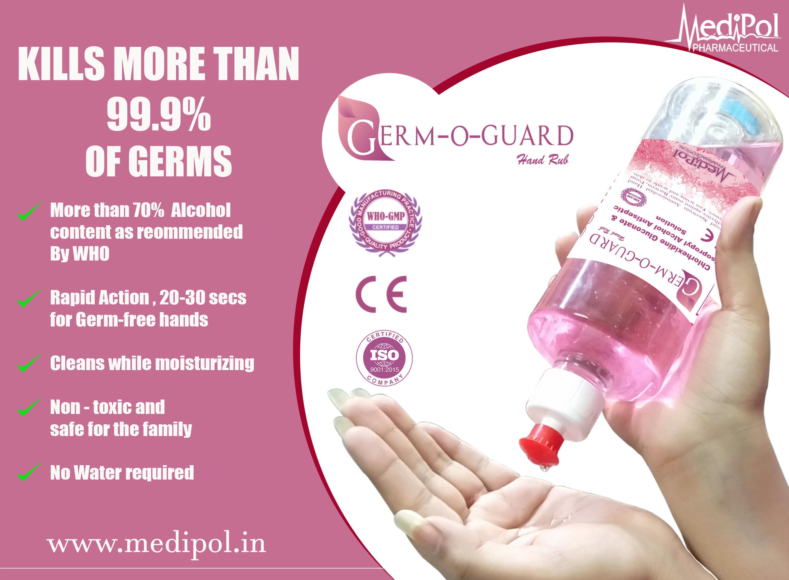 500 ML Germ O Guard Anti Bacterial Liquid Sanitizer