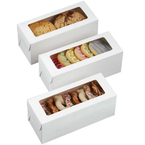 Printed Cookies Box with Front Window Packaging Box
