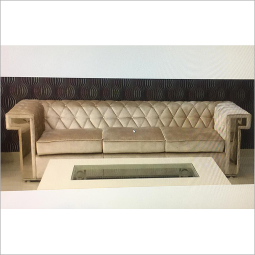 Wooden Three Seater Sofa Set