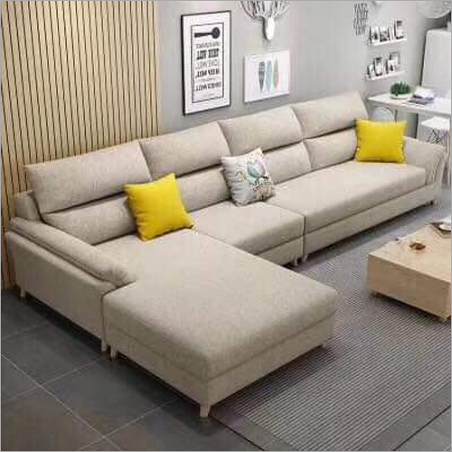 Wooden L Shape Sofa Set