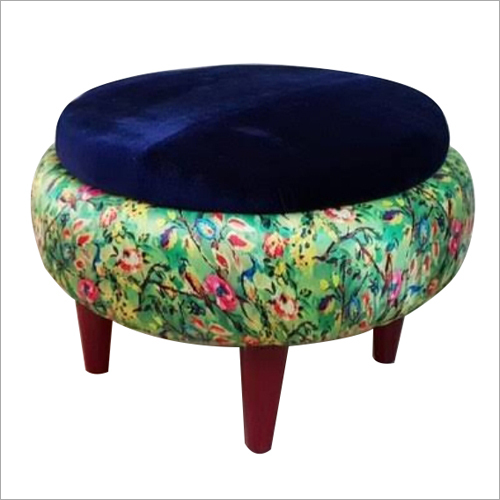 Solid Wood Pouffe Stool