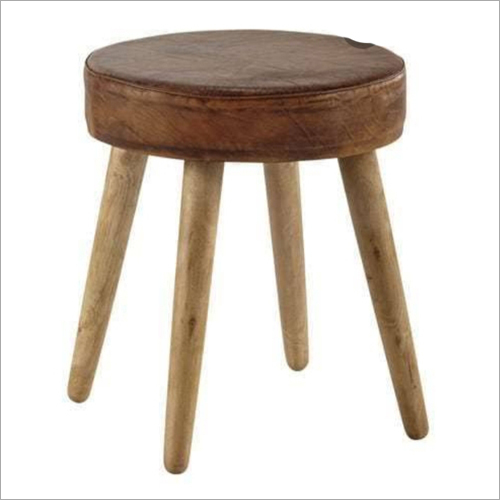 Wooden Round Sofa Stool Bench