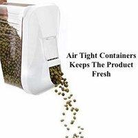 750 ml Easy Flow Plastic Kitchen Storage Jars & Container Set, Transparent Set of 12