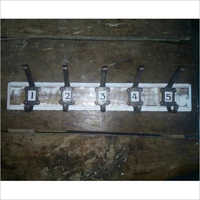 Number Hook Set Of 1 To 5 On White Plate