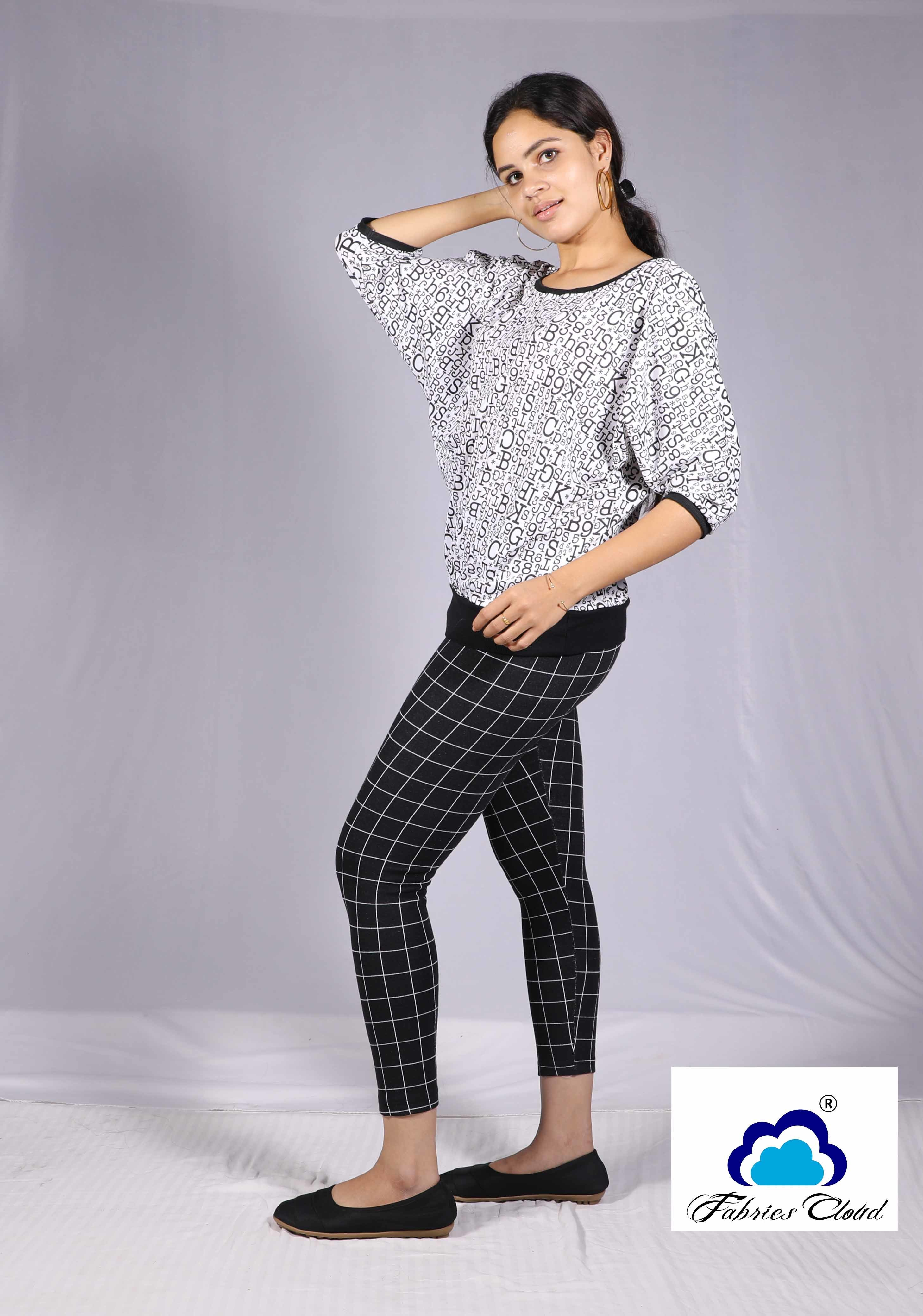 Ladies Checked Jeggings