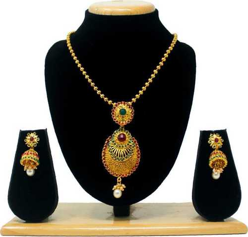 Traditional Antique Design Pendant Set(Red&green)