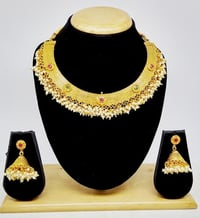 Simple Design Gold plated Necklace Set