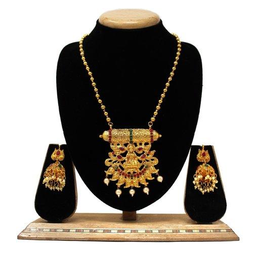 Traditional Design Pendant Set For Women&girls(Red&green)