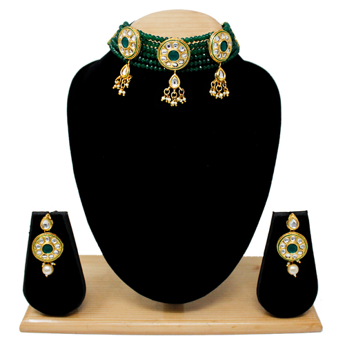 Attractive simple Design Choker Set(Green)