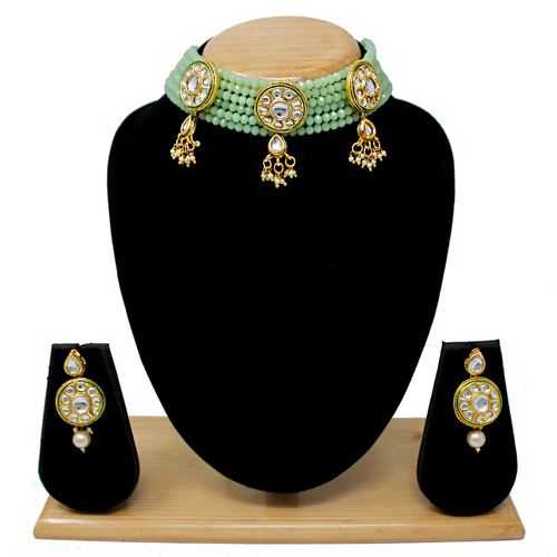Latest Design Choker Necklace Set(Light Green)