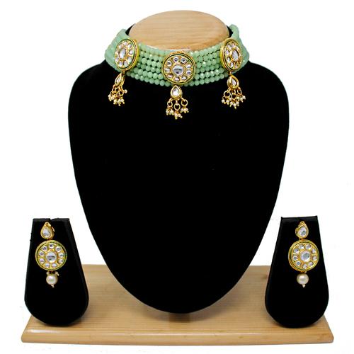 Latest Design Choker Necklace Set(Light Green)