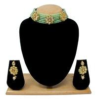 New Design Choker Necklace Set(Light green)