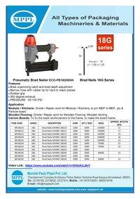 Pneumatic Brad Nailer ECO-PB18G50NN