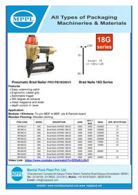 Pneumatic Brad Nailer PRO-PB18G50V3