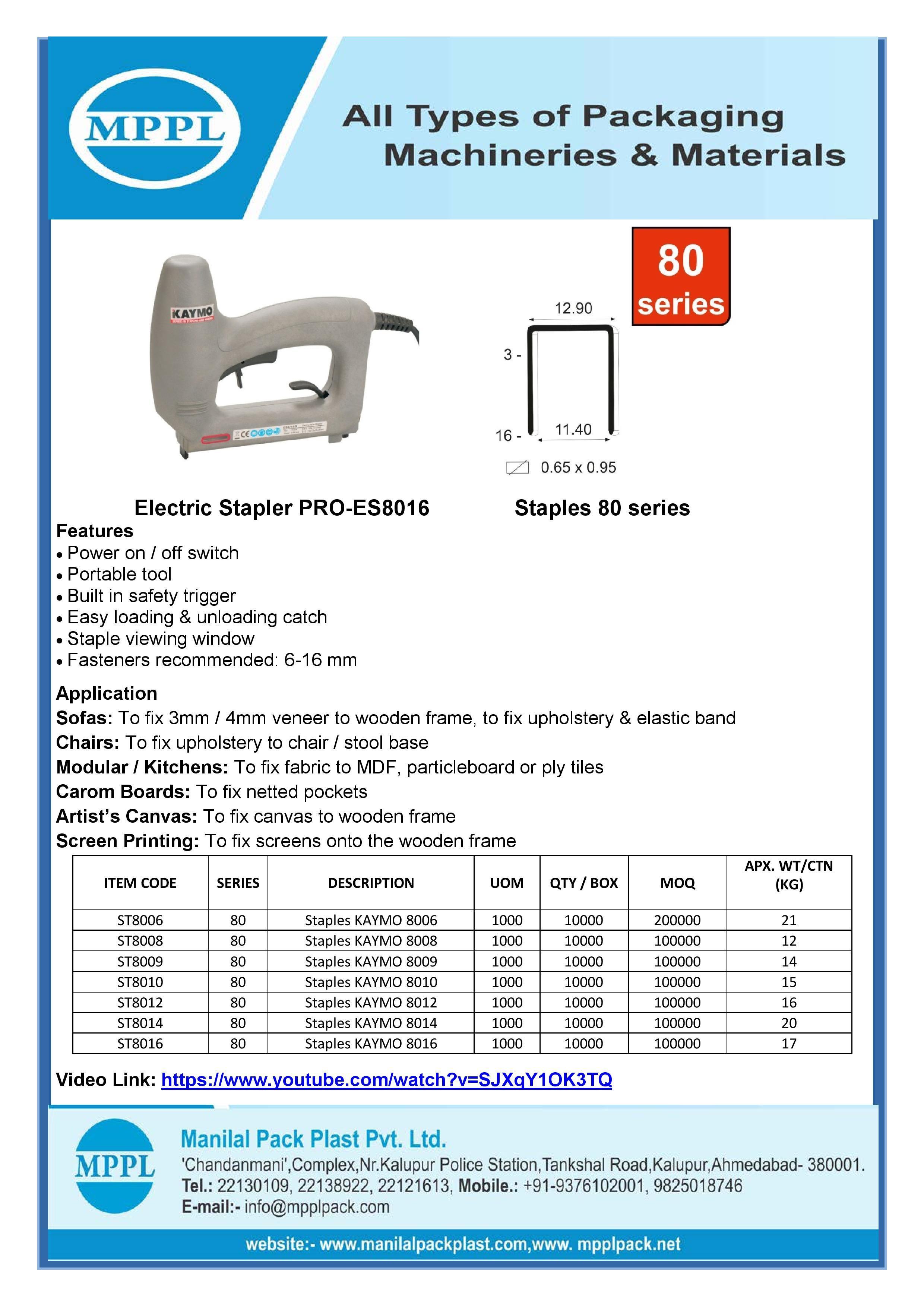 Electric Stapler PRO-ES8016