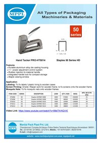 Hand Tacker PRO-HT5014