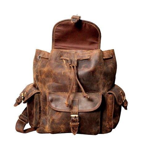 Buffalo Leather Backpack Bag