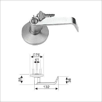 SS Lever Handle With Lock