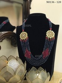 Ahmedabadi Kundan Meenakari Necklace set