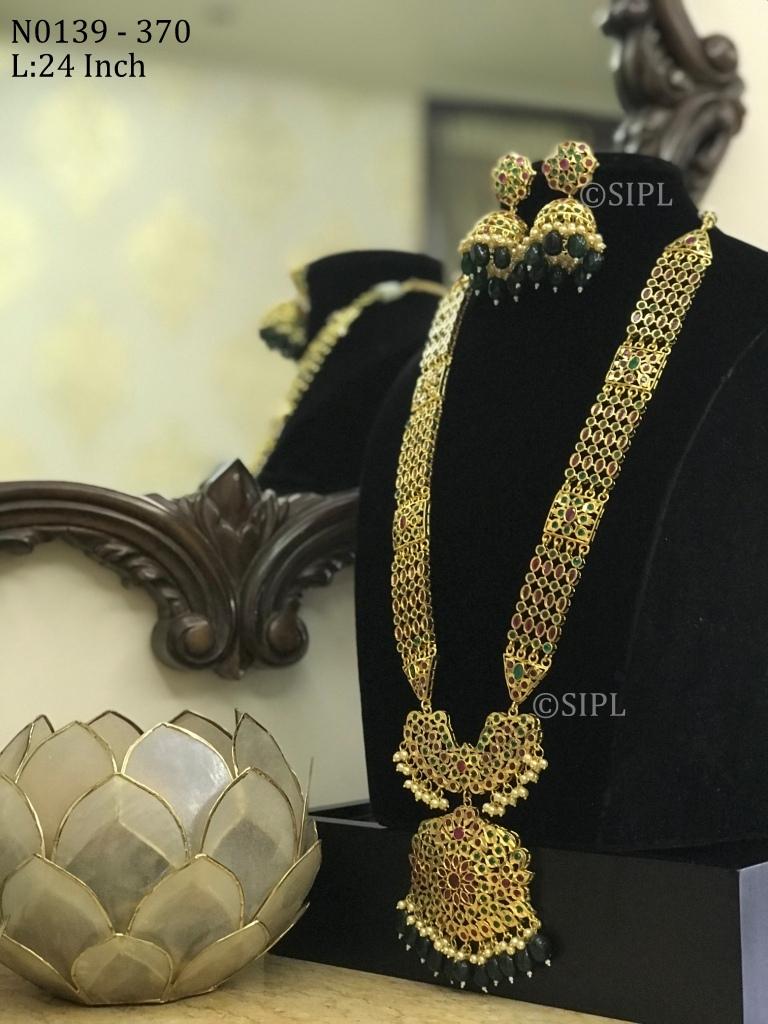Southern Design Diamond Long Necklace set