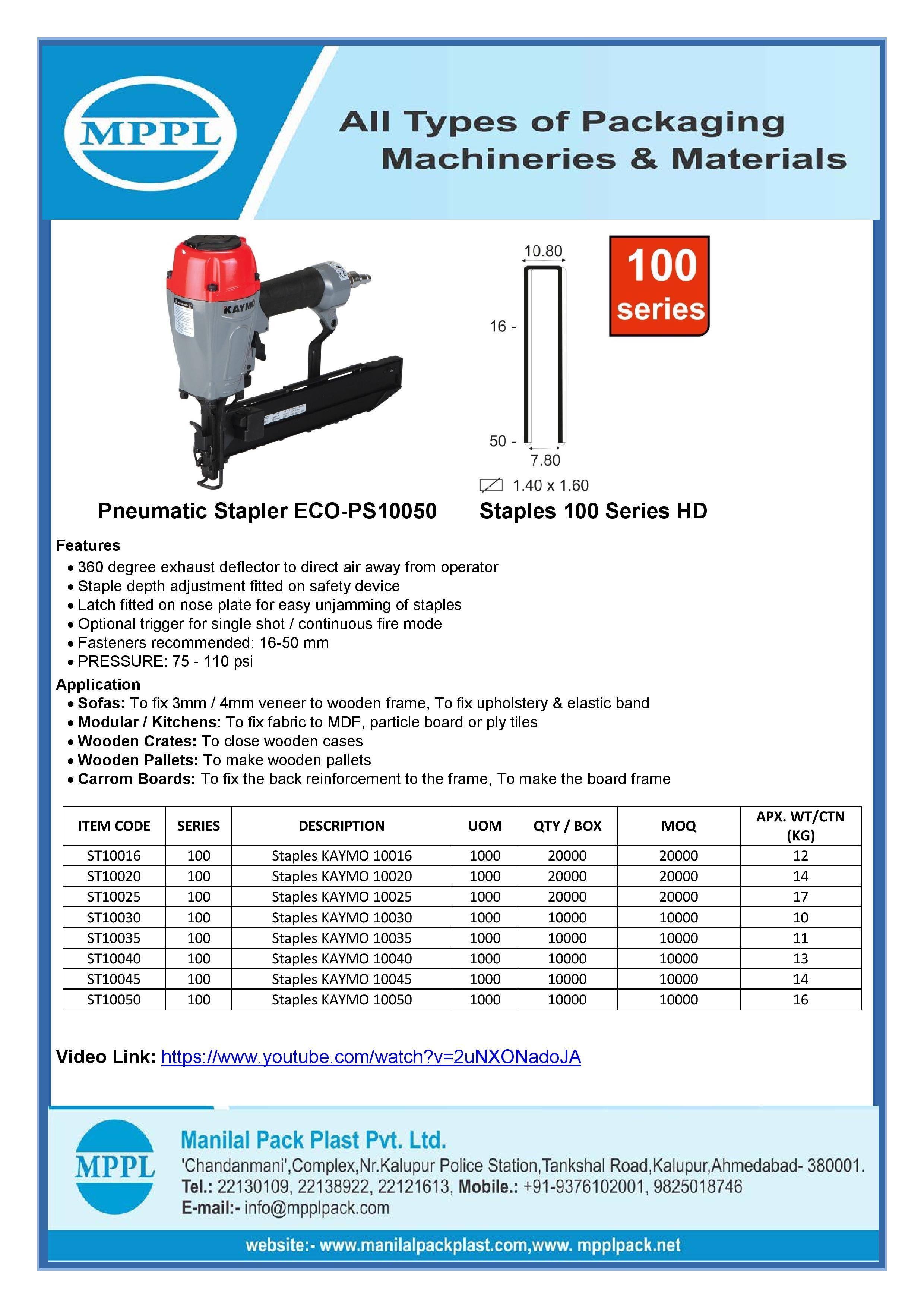 Pneumatic Stapler ECO-PS10050