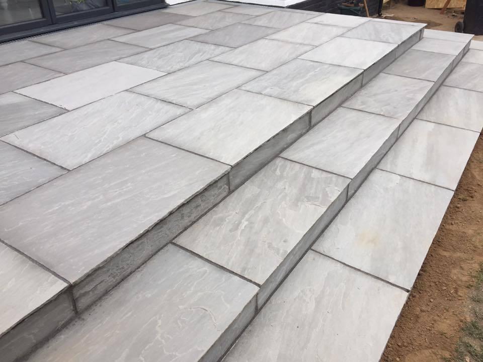 Kandla Grey Sandstone Paving