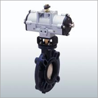 Pneumatic Actuated Type Plastic TA Butterfly Valve Type 57