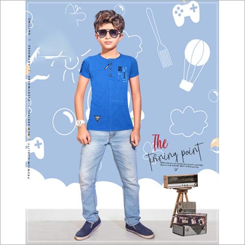 Kids Round Neck Plain T-Shirt