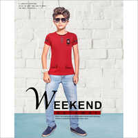 Kids Slim Fit Round Neck T-Shirt