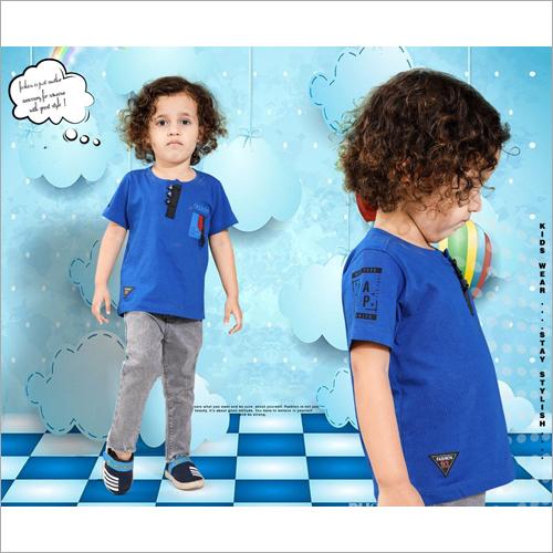 Kids Round Neck Cotton T-Shirt