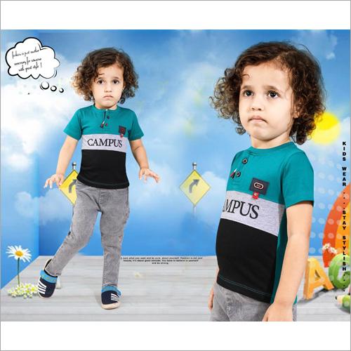 Kids Round Neck Casual T-Shirt