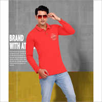Mens Full Sleeve Polo T-Shirt