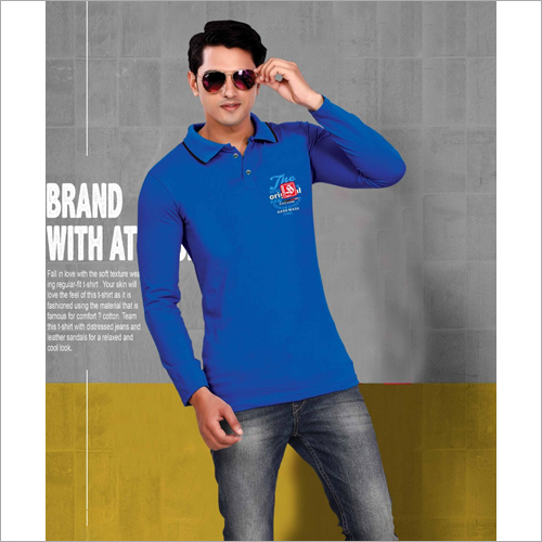 Mens Printed Polo T-Shirt