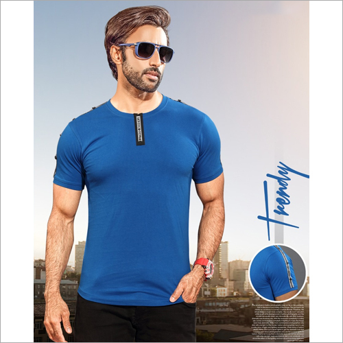 Mens Round Neck Cotton T-Shirt