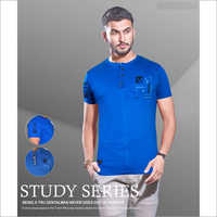 Mens Henley Neck T Shirt