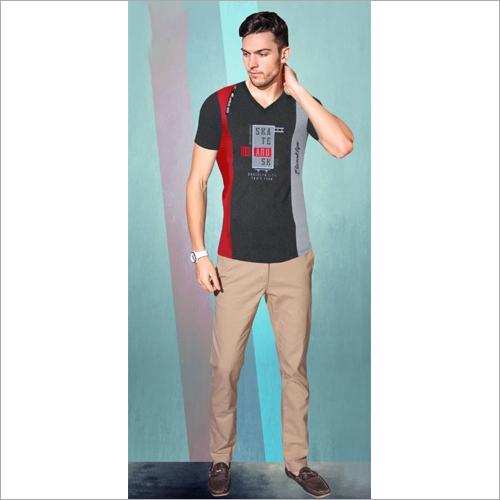 Mens Regular Fit V Neck T-Shirt
