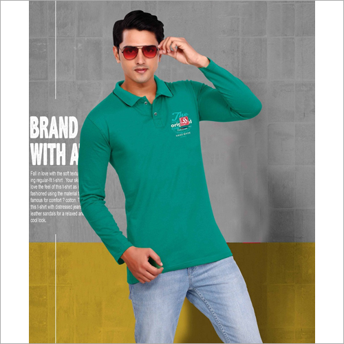 Mens Green Polo T-Shirt