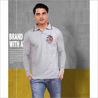 Mens Grey Polo T-Shirt