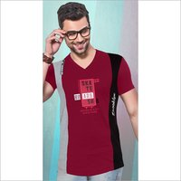 Mens Party Wear V Neck T-Shirt