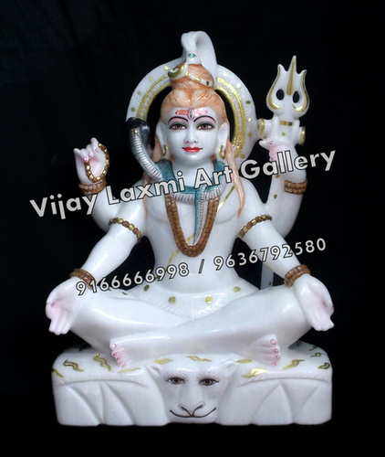 White Marble Shiv Ji Statue