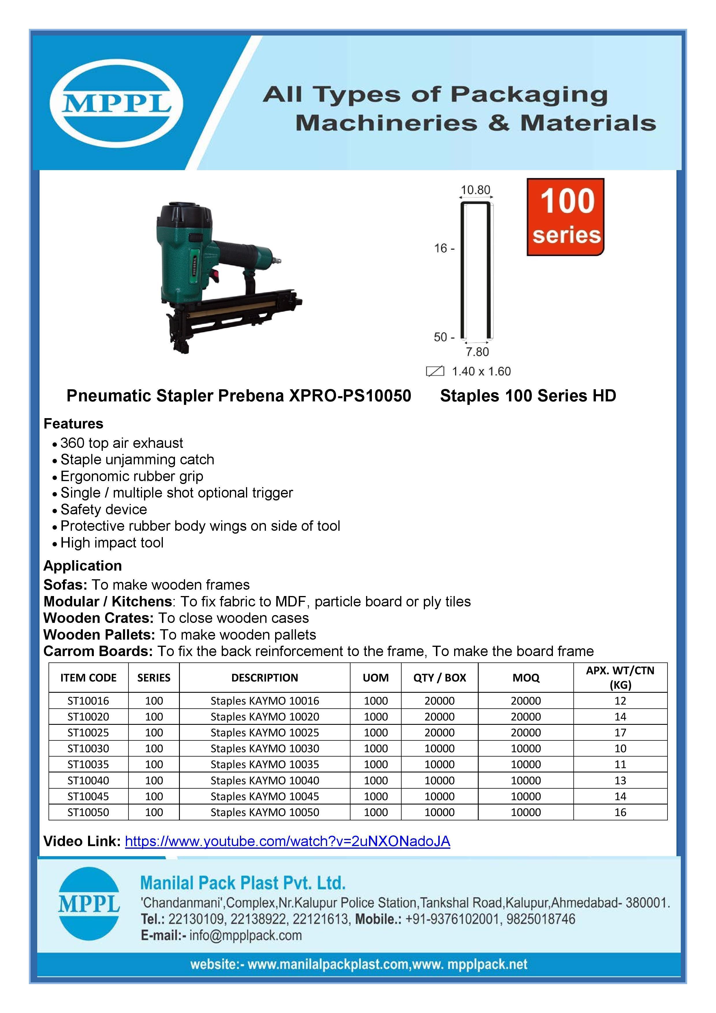 Pneumatic Stapler Prebena XPRO-PS10050