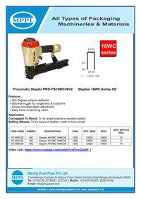 Pneumatic Stapler PRO-PS16WC38V2