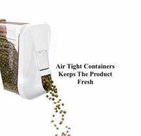 1500 ml Easy Flow Plastic Kitchen Storage Jars & Container Set, Transparent Set of 6