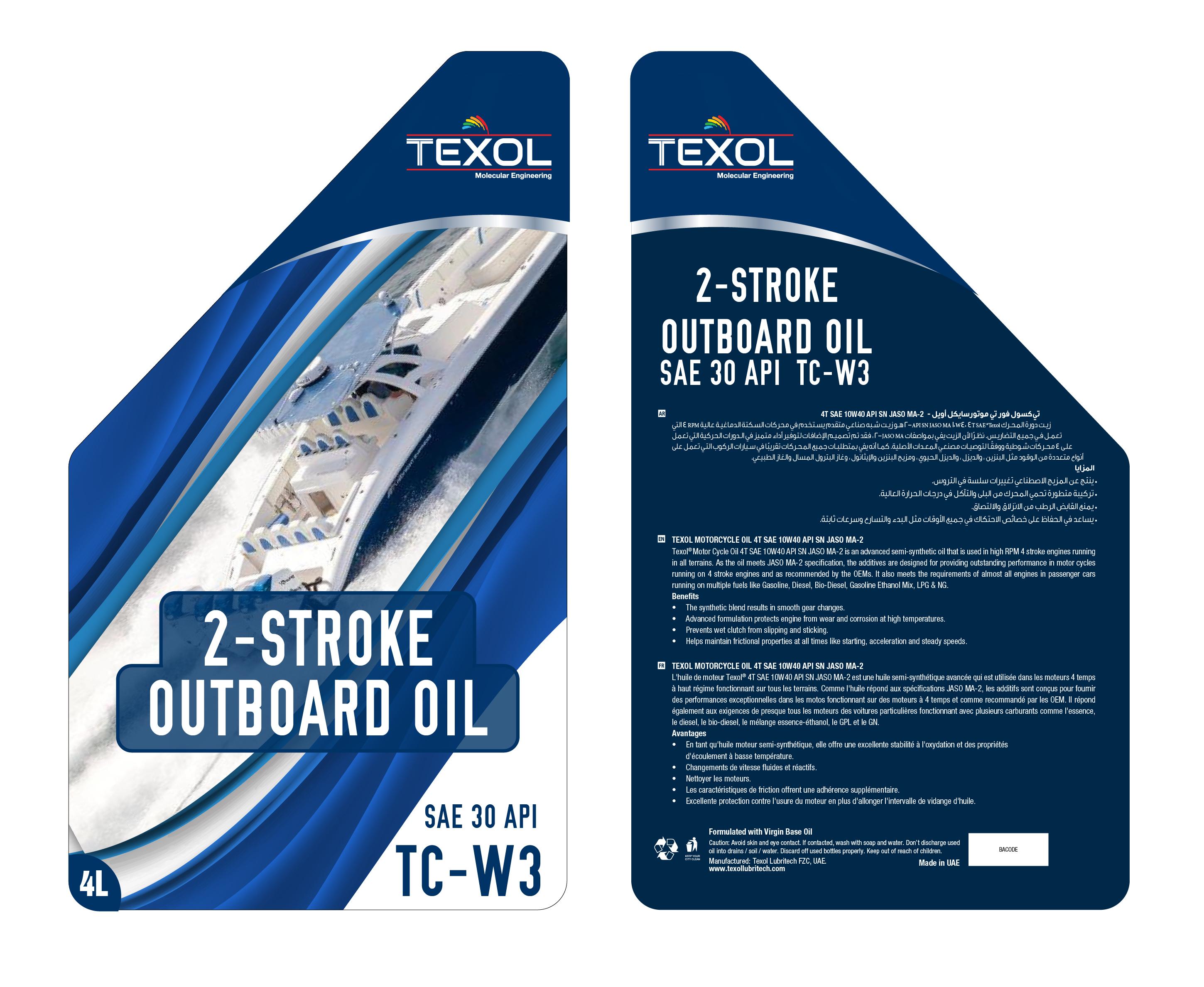 1a. Texol Outboard Oil Sae 30 Api Tc-w3 - 4 Ltr