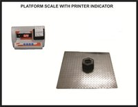 4 Loadcell Heavy Duty Platform Scales 750x750 , 500kg With Printer Indicator