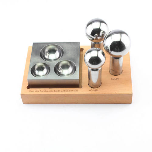 3 cavity dapping block & 3 dapping punch set w/stand